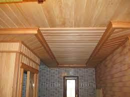Устройство банного потолка