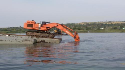 Разработка подводной траншеи